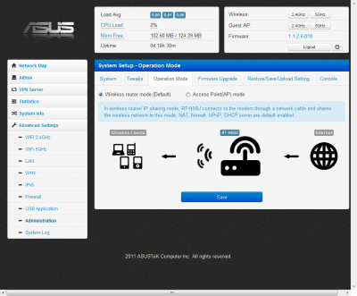 11-ASUS Wireless Router RT-N56U - Operation Mode