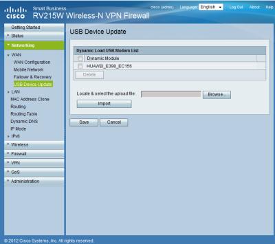 Cisco-RV215W Treiber Huawei