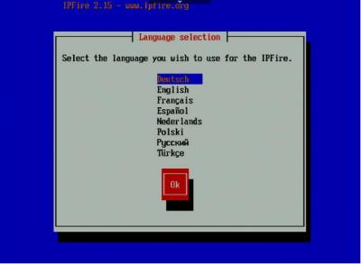 IPFire Sprache