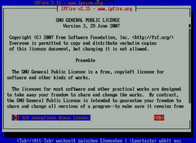 IPFire Lizenz