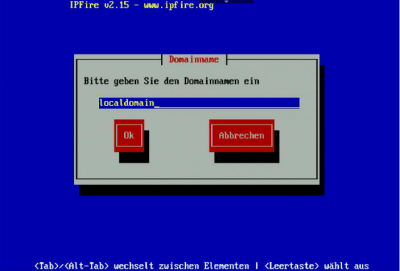IPFire Installation-Domain