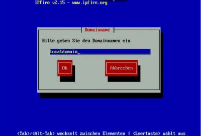 IPFire Installation-Domain