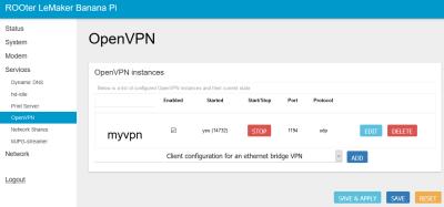 OpenVPN OpenWRT Rooter Firmware